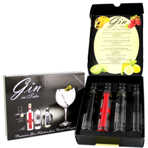 Gin in Tube Giftset Miniatures 4x0,05L (Botanical's, Sting, Brecon, Bo