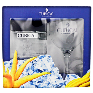 Cubical Premium London Dry Gin 0,7L + Glas